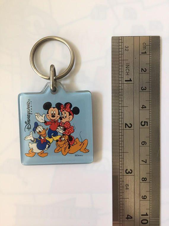 Collectible Original Disneyland Paris Keychain  Vintage 1990s