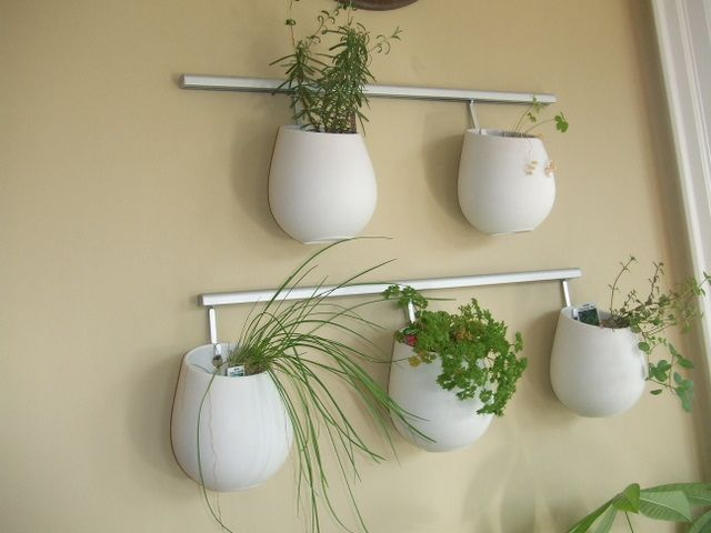 Hanging pots outdoor space pinterest ikea herbs garden and wall planters - Wall mounted planters outdoor ...