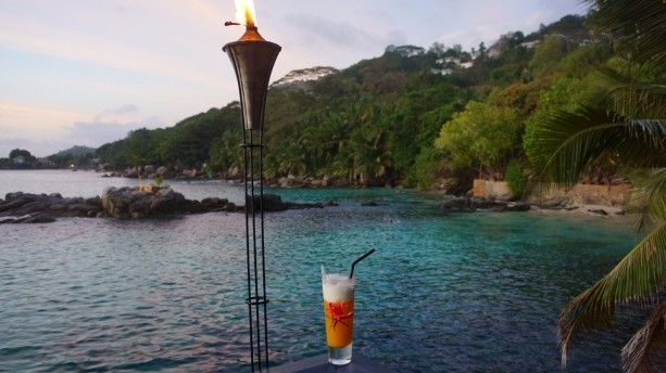 Seychelles' Mixology Flying Fish – rum (that fits perfectly to exotic and warm islands), a few drops of vodka, coconut syrup (it's a native fruit, after all), Galliano bitter, and finally, a touch of orange juice or pineapple juice. Mmmm..