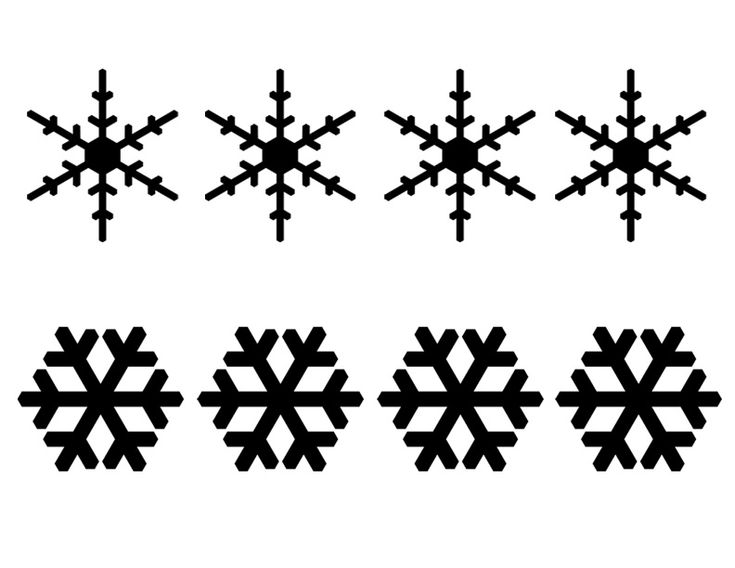 Snowflake template for royal icing or melted chocolate