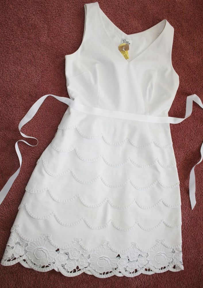 White Lilly Pulitzer Scalloped Dress.. except I would look like a ghost because I am so pale!