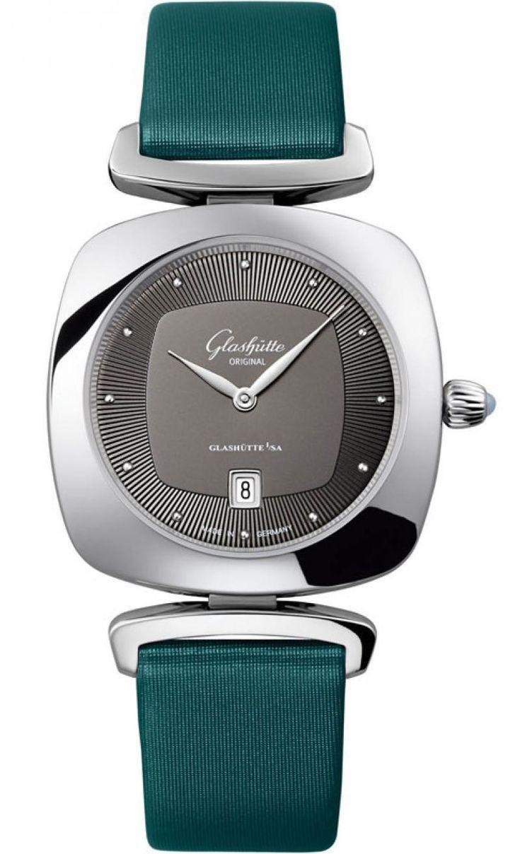 Glashutte Original 1-03-01-14-02-04 Lady Serenade Pavonina - швейцарские женские часы - наручные, стальные, серые