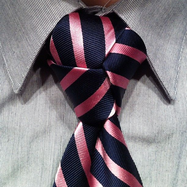 Hour late to work / perfecting this knot pattern / a lady killer #knot #tie #trinity  - If your tie knot looks like this you've done something horribly wrong.