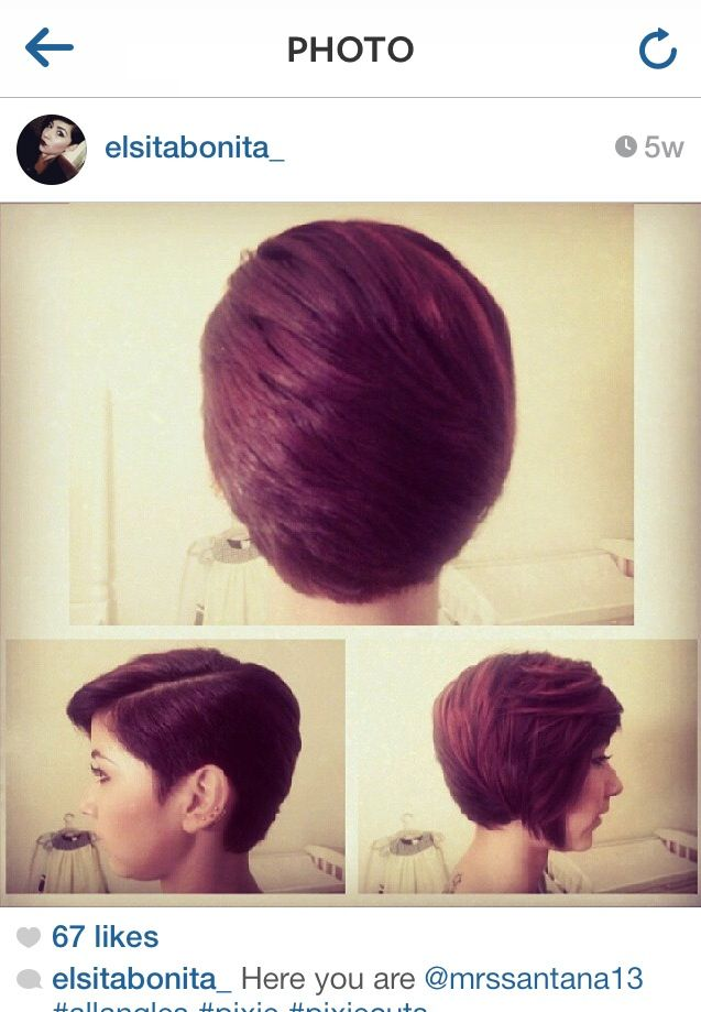 Frankie Sandford inspired asymmetrical pixie bob from ...