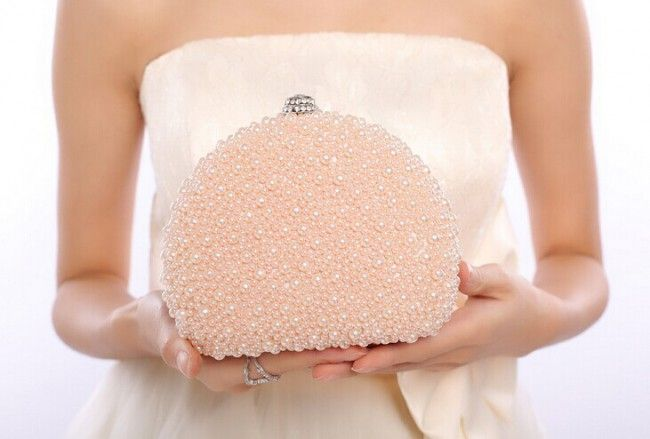 Women's Gorgeous Pearl Evening Bag Handbags #ClutchBag #ClutchBags