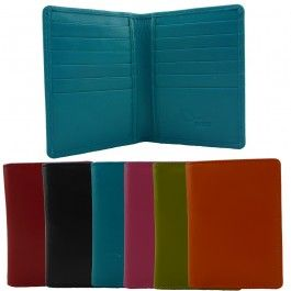 New Genuine Full Grain Leather Mens Womens Multi Colours Slim Card Wallet CH-377