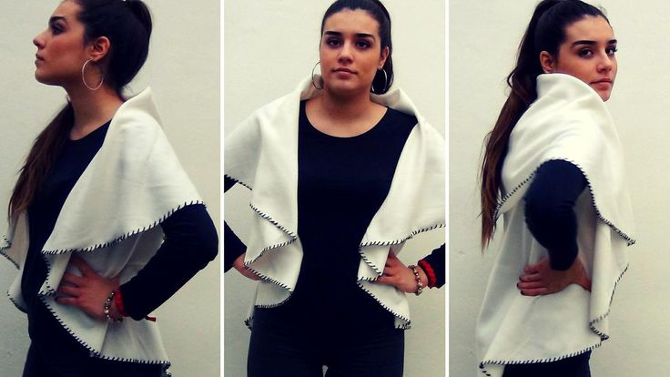 Descubre el paso a paso para transformar una mantita en un chaleco tipo manta. ¡Sin coser!