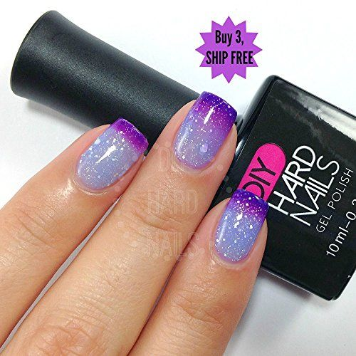 """Queen Gel Nail Polish: """"Ice Queen"""" Color Changing Gel Polish By DIY Hard"""