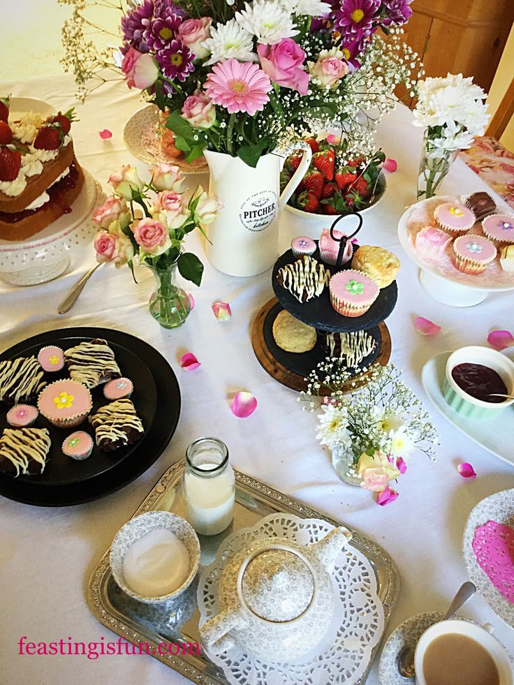 Steamer Trading Host Mothers Day Afternoon Tea use beautiful tableware to display the best homemade Scones Cakes Brownies fresh strawberries and cups of tea