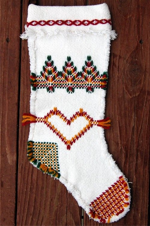 swedish weaving stocking