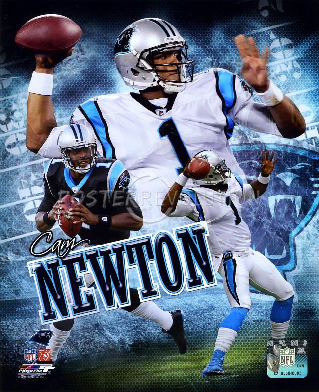 carolina panthers posters | Cam Newton - Carolina Panthers 2011 Portrait Plus Glossy Photograph ...
