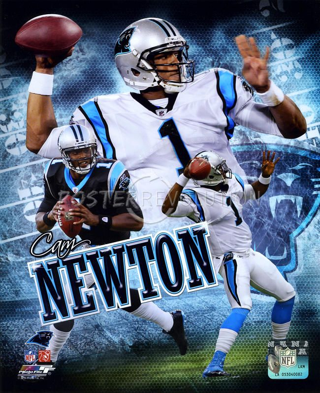 carolina panthers posters | Cam Newton - Carolina Panthers 2011 Portrait Plus Glossy Photograph ...