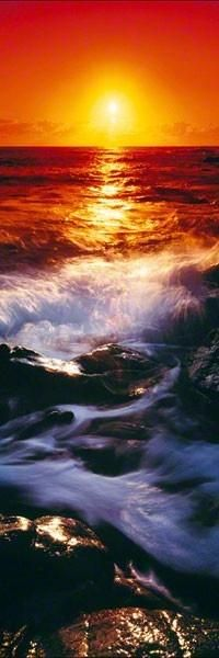 horizontaal is een streep zoals een zonsondergang -----------------