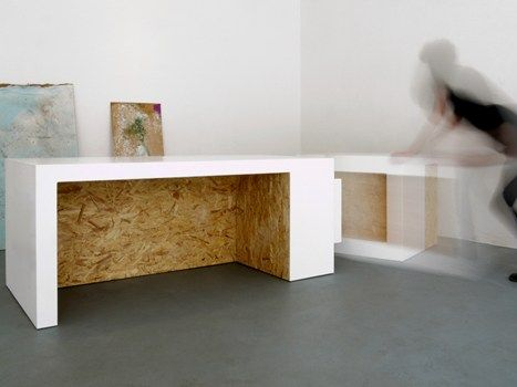 Studio Polpo experiments with HI-MACS® Solid Surface Material to Make Interlocking Furniture for Bloc Projects