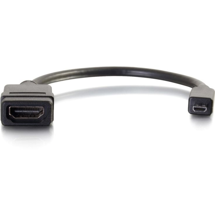 C2G HDMI Micro Male to HDMI Female Adapter Converter Dongle - HDMI/Micro HDMI for Audio/Video Device - 1 x HDMI (Micro Type D) Male Digital Audio/Video - 1 x HDMI Female Digital Audio/Video