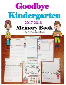 If you are looking for an end of the year gift for your Kindergarten student, this is the Memory book for you. I have included a boy and girl book. If you wish for them to color it I also have included a black and white book. This book is 43 pages and you will not be disappointed.