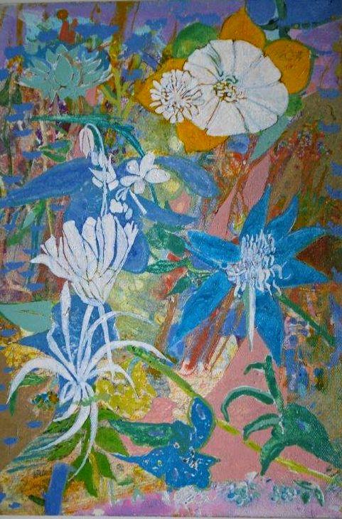 ENLIGHTNED FLOWERS II /  FLORES ILUMINADAS II, JU BARROS ART BRAZIL