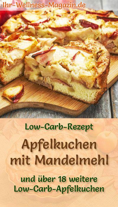 Low Carb Apfelkuchen mit Mandelmehl – Rezept ohne Zucker