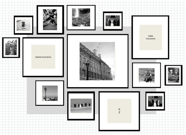 ikea ribba gallery wall layout