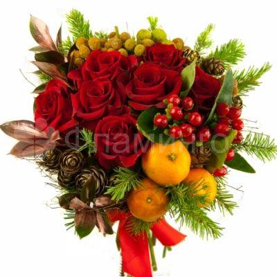 """Новогодний букет"" http://www.flamingo.ru/product_new-year-bouquet.html"