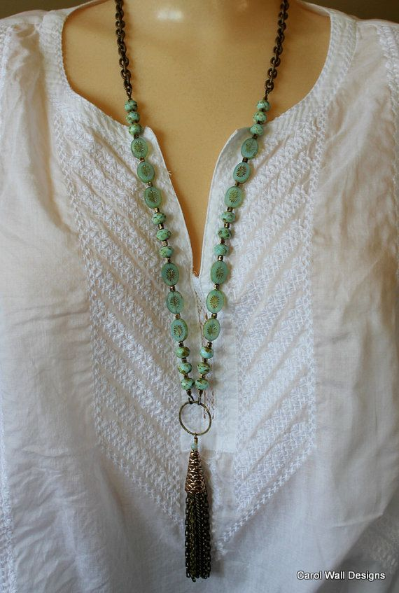 """CarolWallDesigns, etsy, 30-32"""" with added drop"""