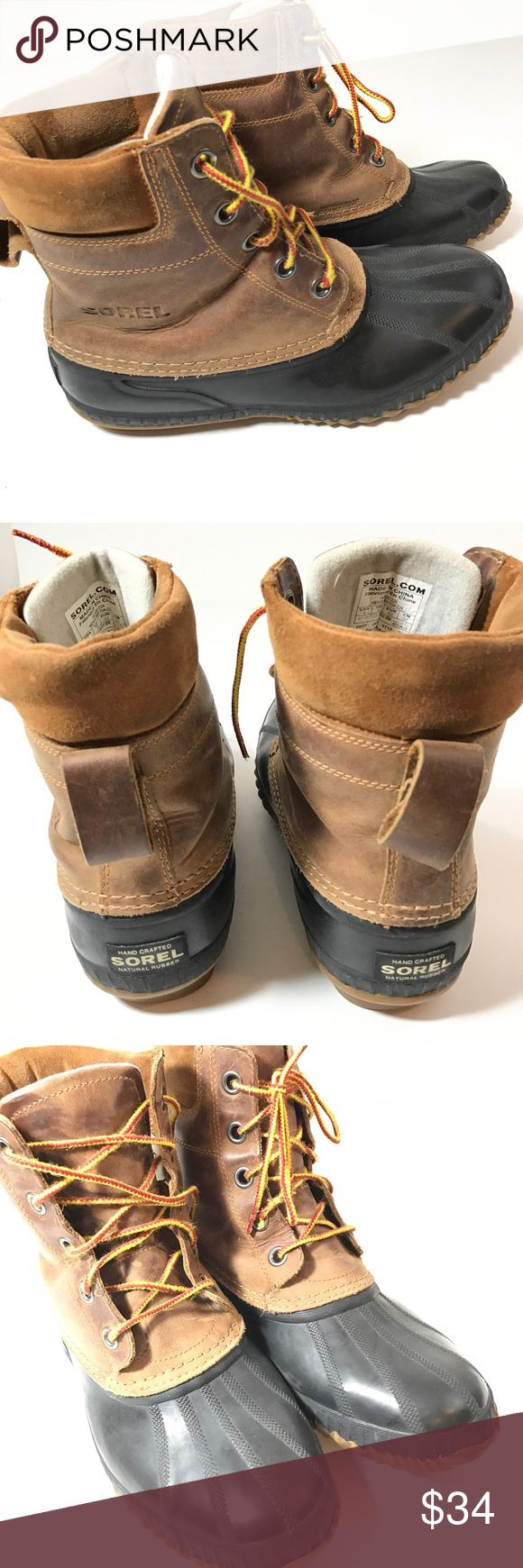 Sorel Cheyenne Waterproof Winter Rain Boots Mens 9 Have some wear to them see photos for overall condition. Inside has some wear as well took it inside picture of boot take a look.   Size 9 men Sorel Shoes Boots
