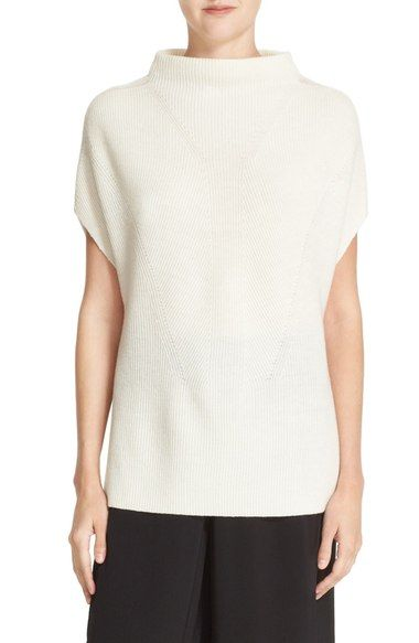 Vince Sleeveless Funnel Neck Wool & Cashmere Sweater available at #Nordstrom
