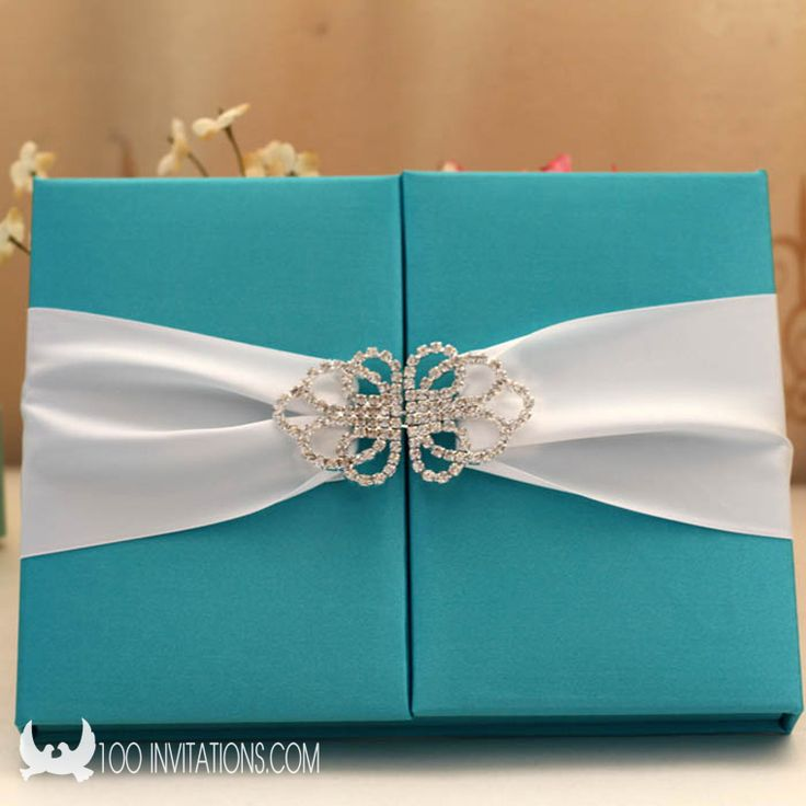 box wedding invitations online%0A Luxury Blue Silk Box Wedding Invitation With Rhinestone Buckle