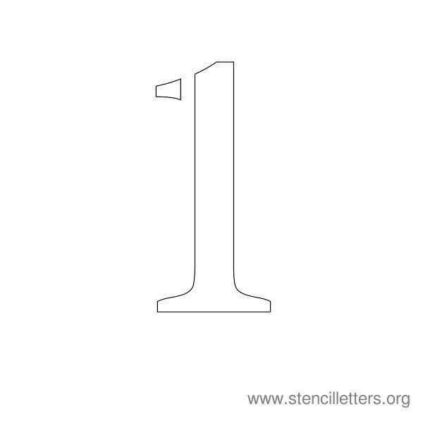 Number Stencil 1