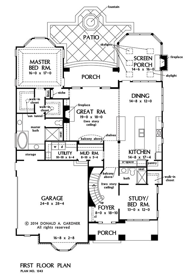 Floor plan with large utility room and mudroom....extend