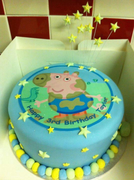 George pig cake By Create~A~Cake By Rebecca.... find us on Facebook x
