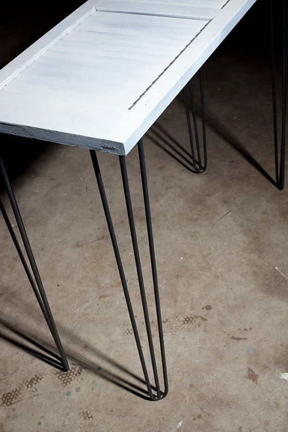 """Set fo 4 = $60 (etsy) 3-rod hairpin legs 28"""" Set of 4 Raw and Powder coated options available"""