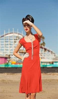 1930s Fashion Inspired West Coaster Dress $88.00   http://www.vintagedancer.com/1930s/1930s-fashion/