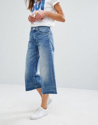 Falda pantalón vaquera con pernera ancha de Levi's
