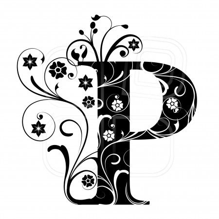 Letter Capital P, alphabet, arabic, art