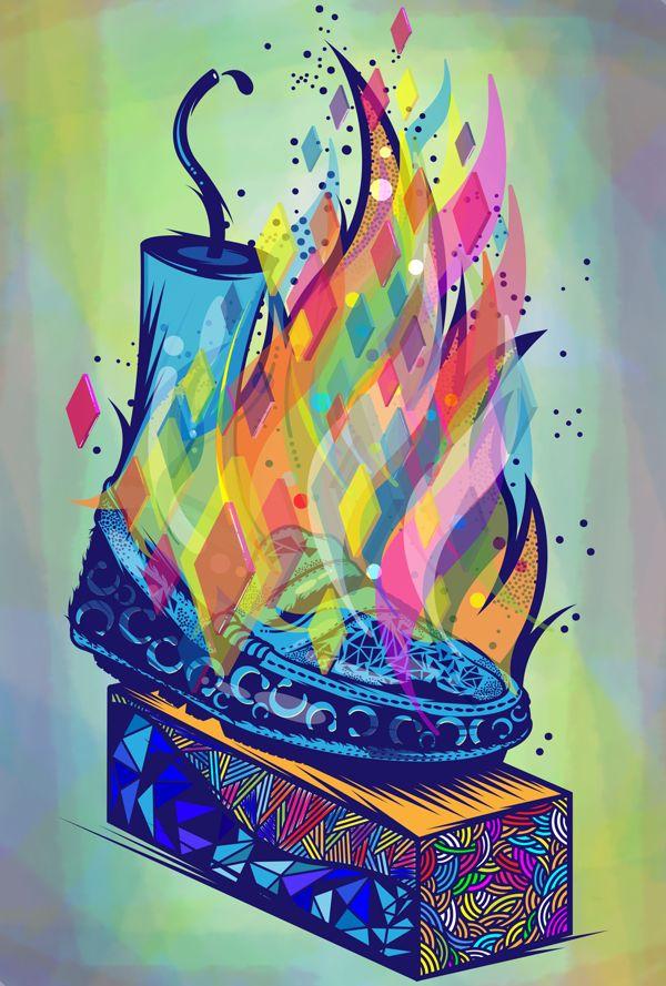 """The Burning Shoe """"Skhothane"""" by lazi mathebula, via Behance"""