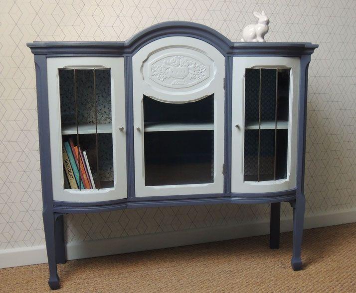 meuble r nov felicie meuble vitrine vintage r tro pouvant servir de biblioth que ou de. Black Bedroom Furniture Sets. Home Design Ideas