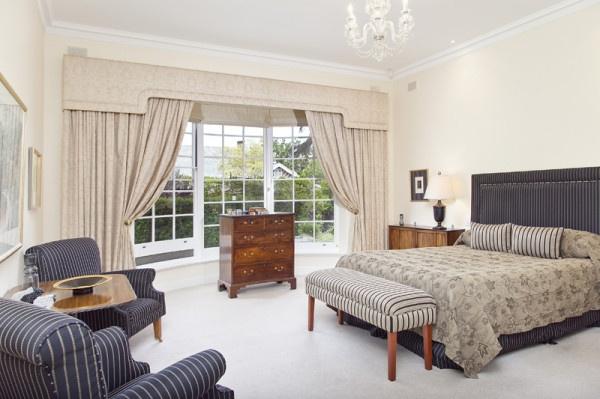Master Bedroom of Walkerville House. Tasteful, expansive, delightful - find out for yourself....
