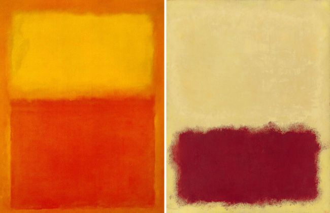 Abstract Expressionism by Mark Rothko.