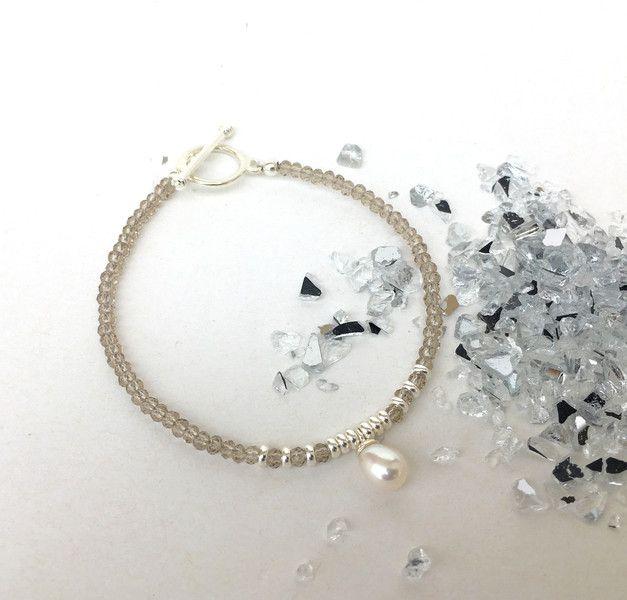 Armbänder - Armband Rauchquarz, 925/Silber - ein Designerstück von moanda bei DaWanda
