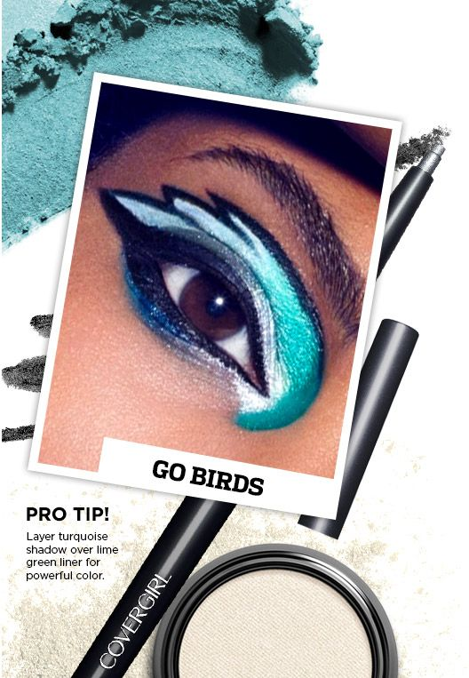 Game day Eagles makeup ~ awesome!