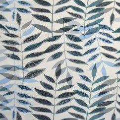Tissu décor maison - LAZULI - Feuile Bleu