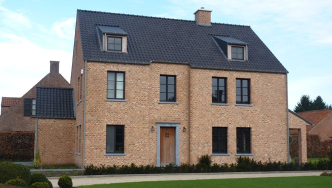 Zwarte ramen binnenkant veranda steellook zwarte structuurlak adr construct - Huis exterieur picture ...