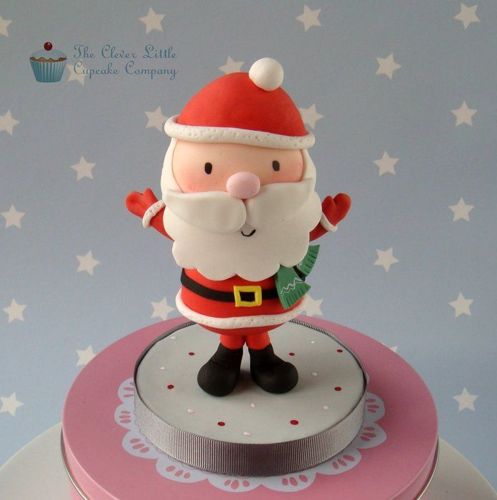 Sugar Cake Decorations For Christmas : Father Christmas Cake Topper - by CleverLittleCupcake ...