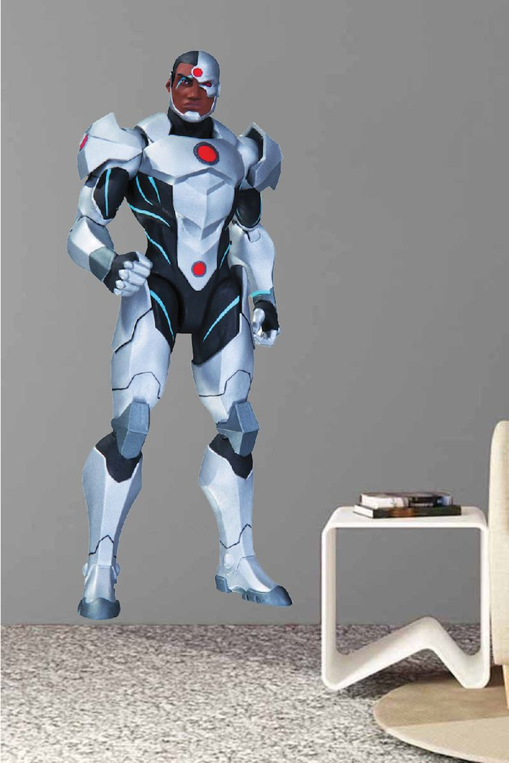 Cyborg Superhero Wall Decal Room Decor - Superhero Wall Design - Cyborg Wall Mural - DC Comics Bedroom Stickers | Prime Decals