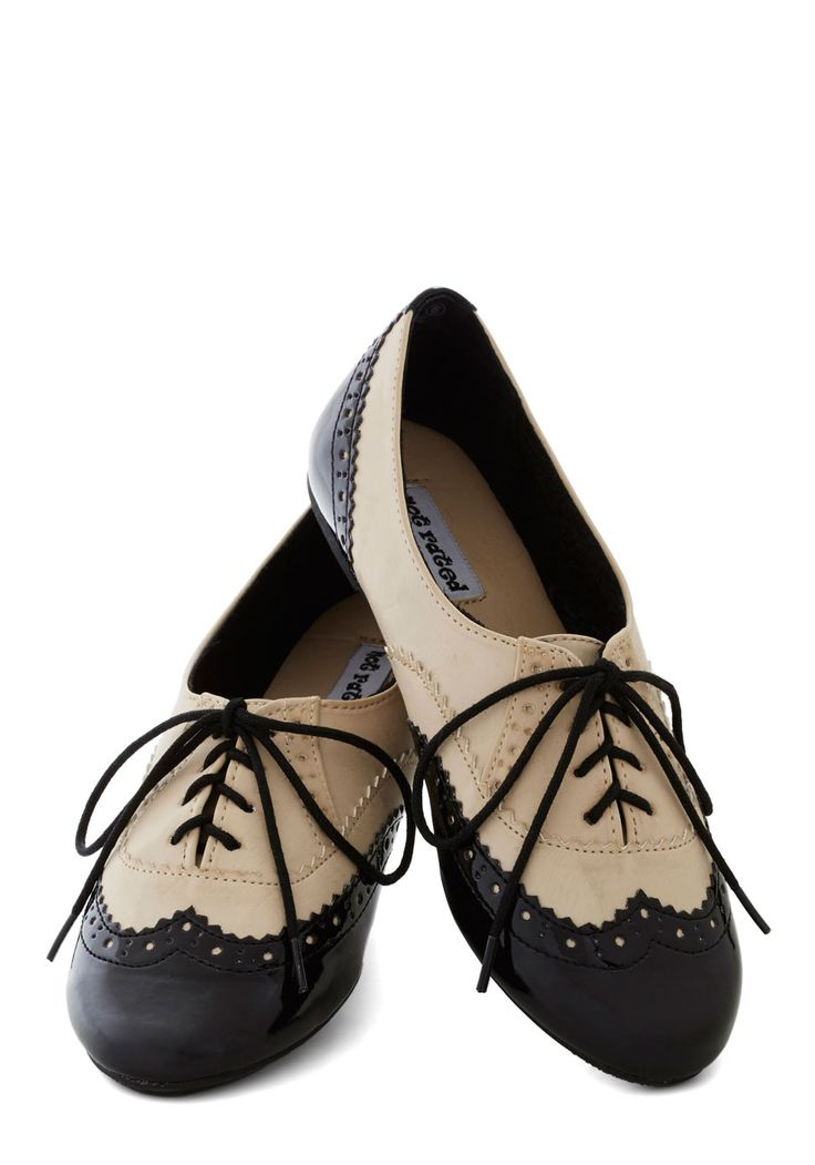 Livin' Large Flat | Mod Retro Vintage Flats | ModCloth.com- too cute, but would look odd on my wide feet.