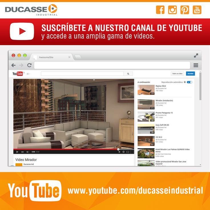 Suscríbete a nuestro canal de YouTube y accede a una amplia gama de vídeos de nuestros productos. #youtube #instadaily #ducasseindustrial #divisionesdeambiente #vidrio #mirador