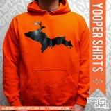 """DEER XING"" Orange Hoodie by Yooper Shirts | Yooper Shirts ®"
