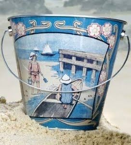 Jodi - I sort of started collecting Antique Beach Pails.  They would be cute as part of a wall collage-you have to spell out Sea Perch with driftwood or something like that.