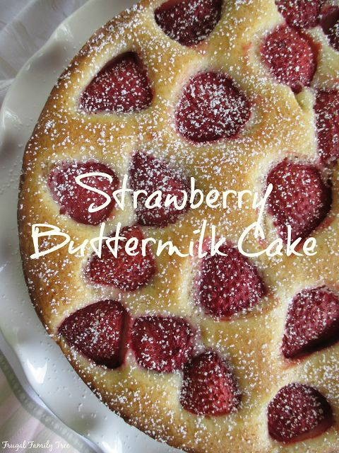 Delicious Strawberry Buttermilk Cake made from Back In The Day Bakery, Made With Love cookbook.
